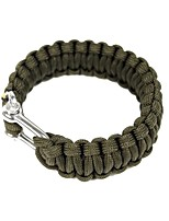 cheap -Survival Bracelet Camping / Hiking / Caving Camping & Hiking Outdoor Nylon fiber Metallic 1 pcs