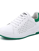 cheap -Women's Shoes PU Spring Fall Comfort Novelty Sneakers Creepers Round Toe Hollow-out for Casual Office & Career Green Black
