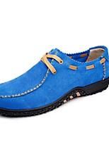 Недорогие -Для мужчин обувь Натуральная кожа Замша Кожа Весна Осень Удобная обувь Формальная обувь Топ-сайдеры для Повседневные Черный Серый