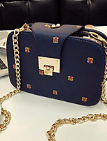 cheap -Women Bags PU Crossbody Bag Buttons for Casual All Season Blue White Black