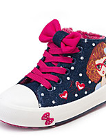 cheap -Girls' Shoes Canvas Winter Fall Comfort Sneakers for Casual Light Blue Red Dark Blue
