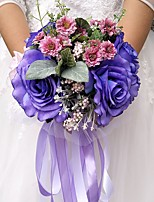 "cheap -Wedding Flowers Bouquets Wedding Party Evening Other Material Polyester 11.02""(Approx.28cm)"
