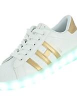economico -Da donna Scarpe PU (Poliuretano) Inverno Autunno Comoda Sneakers Piatto Punta tonda per Casual Oro Nero Argento