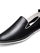 cheap -Men's Shoes Synthetic Microfiber PU Spring Fall Comfort Loafers & Slip-Ons for Casual Black White