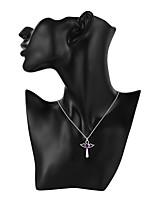 Недорогие -Муж. Жен. Крест Сердце европейский Ожерелья с подвесками Кристалл Серебрянное покрытие Ожерелья с подвесками , Повседневные