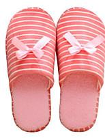 Недорогие -Для женщин Обувь Полиамидная ткань Хлопок Зима Удобная обувь Тапочки и Шлепанцы Плоские для Повседневные Серый Кофейный Зеленый Розовый
