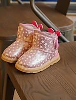 Недорогие -Мальчики Девочки обувь Дерматин Зима Осень Удобная обувь Зимние сапоги Ботинки для Повседневные Золотой Розовый