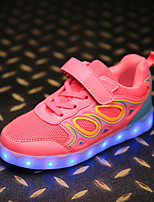 cheap -Girls' Shoes Breathable Mesh Synthetic Spring Summer Light Up Shoes Comfort Sneakers Animal Print Gore LED Hook & Loop for Casual Outdoor