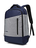 15.6 pollici portatile da cucire panno di nylon impermeabile da lavoro con porta di ricarica usb borsa per notebook zaino per macbook /
