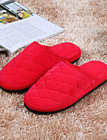 cheap -Women's Shoes Cashmere Winter Comfort Slippers & Flip-Flops Flat Heel Round Toe for Casual Light Pink Green Red Purple