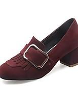 billige -Damer Sko Tilpassede materialer Forår Efterår Komfort Modestøvler Lysende såler Hæle Lave hæle Kvadratisk Tå Lukket Tå Spænde for