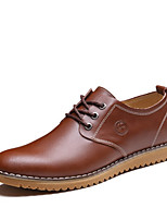 cheap -Men's Shoes Microfibre Spring Fall Comfort Oxfords for Casual Brown Yellow Black