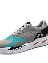 Недорогие -Для мужчин обувь Ткань Весна Осень Удобная обувь Кеды для Повседневные Черный Серый Красный
