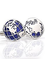 cheap -Circle Silver Cufflinks Alloy Formal Classic Fashion Daily Formal Men's Costume Jewelry
