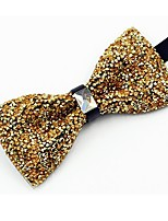 cheap -Men's Cotton Bow Tie,Vintage Party Crystal/Rhinestone All Seasons Gold