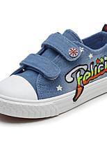 preiswerte -Mädchen Schuhe Denim Jeans Winter Herbst Komfort Sneakers Walking Klettverschluss für Normal Schwarz Dunkelblau Hellblau