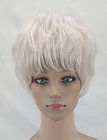 cheap -Women Synthetic Wig Short Curly Light golden Layered Haircut Cosplay Wig Natural Wigs Costume Wig