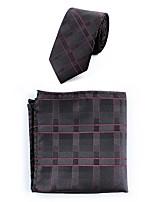Da uomo Per tutte le stagioni Poliestere Semplice Casual Cravatta,A righe Vino