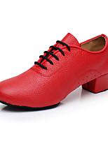 "preiswerte -Damen Modern Kunstleder Sneaker Training Randverzierung Niedriger Heel Schwarz Rot 1 ""- 1 3/4"" Maßfertigung"