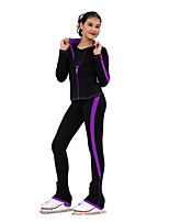 cheap -Over The Boot Figure Skating Tights Figure Skating Jacket with Pants Women's Girls' Ice Skating Pants / Trousers Tracksuit Top Fuchsia