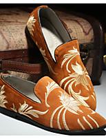 abordables -Hombre Zapatos Cuero Primavera Otoño Confort Zapatos de taco bajo y Slip-On para Casual Negro Amarillo Rojo Azul