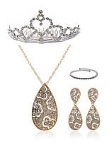Недорогие -Жен. Ожерелья с подвесками Свадебные комплекты ювелирных изделий Стразы европейский Мода Свадьба Для вечеринок Искусственный бриллиант