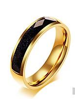 Недорогие -Муж. Жен. Классические кольца Обсидиан Классика Elegant Титан Круглый Бижутерия Свадьба Для вечеринок Повседневные