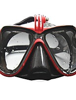 cheap -Snorkeling Packages Diving Mask Diving Packages Water Resistant / Water Proof Anti-Fog Diving & Snorkeling Silicon Rubber PC Tempered