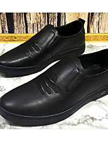 cheap -Men's Shoes Cowhide Nappa Leather Spring Fall Comfort Loafers & Slip-Ons for Casual Black