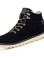cheap -Men's Shoes PU Spring Fall Comfort Boots Booties/Ankle Boots for Casual Blue Brown Black