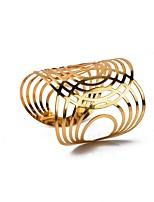 abordables -Femme Manchettes Bracelets , Décontracté Mode énorme Alliage Forme Géométrique Bijoux Soirée Bar