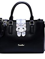 cheap -Women Bags PU Tote Zipper for Casual All Season Black