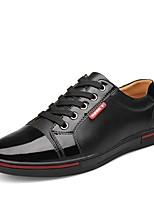 Недорогие -Для мужчин обувь Натуральная кожа Зима Осень Удобная обувь Формальная обувь Кеды С отверстиями для Для вечеринки / ужина Черный