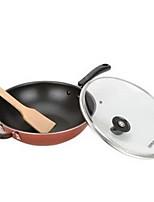 cheap -Aluminum alloy Plastic Flat Pan Multi-purpose Pot,32*9.5