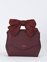 cheap -Women Bags PU Shoulder Bag Bow(s) for Casual All Season Blushing Pink Red Black