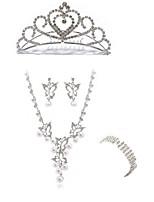 abordables -Mujer Pulseras de puño Los sistemas nupciales de la joyería Cristal Europeo Moda Boda Fiesta Diamante Sintético Legierung Mariposa