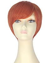 cheap -Women Synthetic Wig Short Straight Orange Lolita Wig Party Wig Halloween Wig Carnival Wig Cosplay Wig Natural Wigs Costume Wig