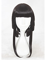 cheap -Women Synthetic Wig Medium Length Kinky Straight Black Cosplay Wig Costume Wig