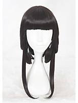 abordables -Mujer Pelucas sintéticas Medio Liso Natural Negro Peluca de cosplay Pelucas para Disfraz