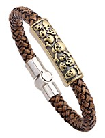 cheap -Men's Bracelet , Fashion Rock Leather Alloy Circle Jewelry For Going out