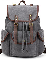cheap -Men Bags Canvas Polyester Backpack Zipper for Casual All Season Khaki Army Green Gray Green Light Gray Black