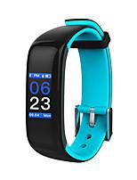 hhy nueva pulsera bluetooth inteligente p1 más frecuencia cardíaca presión arterial monitoreo del sueño pulsera deportiva android ios