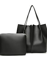cheap -Women Bags PU Bag Set 2 Pieces Purse Set Zipper for Casual All Season Brown Gray Black