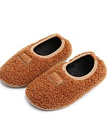 cheap -Girls' Shoes Wool Cashmere Winter Fall Fur Lining Fluff Lining Flats for Casual Dress Black Gray Pink Camel