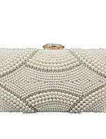 cheap -Women Bags Polyester Evening Bag Crystal Detailing Pearl Detailing for Wedding Event/Party All Season White