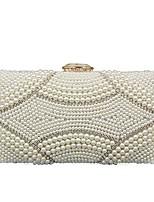 preiswerte -Damen Taschen Polyester Abendtasche Kristall Verzierung Perlen Verzierung für Hochzeit Veranstaltung / Fest Alle Jahreszeiten Weiß