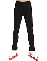 cheap -Over The Boot Figure Skating Tights Women's Kid's Ice Skating Pants / Trousers Sweatshirt Bottoms Black Spandex Stretchy Solid