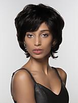 cheap -Women Human Hair Capless Wigs Strawberry Blonde/Light Blonde Medium Auburn Natural Black Short Natural Wave Side Part