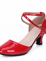 """cheap -Women's Modern Leatherette Heel Outdoor Chunky Heel Red Silver Black Gold 2"""" - 2 3/4"""" Customizable"""