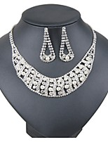 cheap -Women's Jewelry Set Bridal Jewelry Sets Simple Classic Elegant Wedding Party Silver Plated 1 Necklace Earrings
